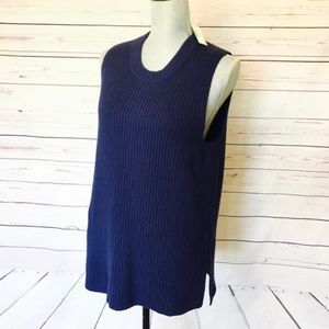 J.Crew Blue Sleeveless Tunic Sweater Size XXS